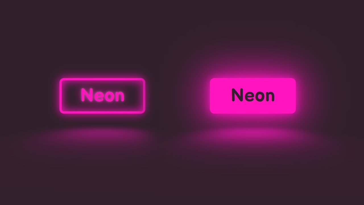 Create A Neon Button with A Reflection using CSS