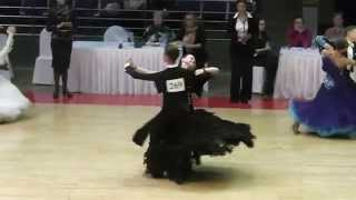 Juraj Bjelac i Renata Faizerakhmanova   Olymp Cup April 2014   WDSF Junior 2   Slowfox