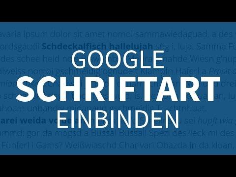 Google Schriftart In Website Einbinden – Webdesign-Tutorial