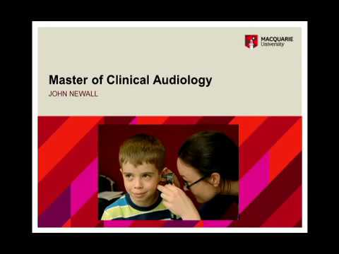 Master of Clinical Audiology at Macquarie University