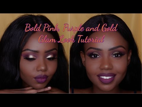 Bold Gold (pink And Purple) Glam Look Tutorial