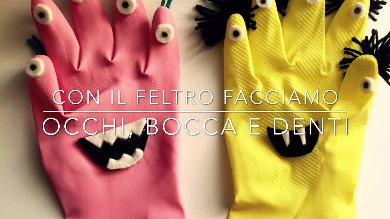 Mostri fai da te riciclando guanti di gomma idee creative - Bricolage fai da te idee ...