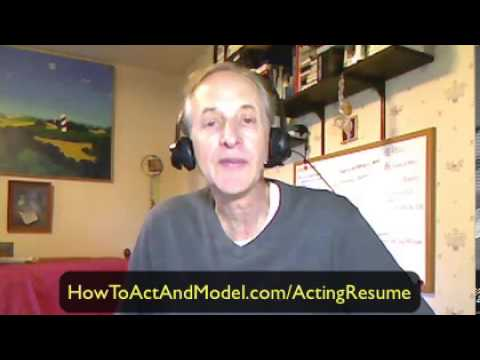Acting Resume | How To List Your Special Skills On Your Actor Resume