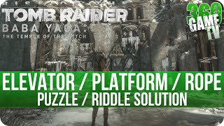 Rise of the Tomb Raider DLC - Wicked Vale Elevator / Platform / Rope - Puzzle / Riddle Solution