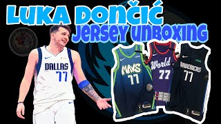 Luka Doncic NBA Jersey Unboxing fresh from Mavs Store
