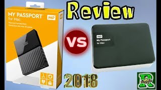 WD My Passport for Mac 2018 Portable External Hard Drive - USB 3.0 Unboxing & Vs Old Version