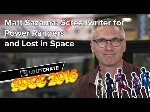 SDCC 2016 : Matt Sazama, screenwriter for Power Rangers and Lost in Space fragman