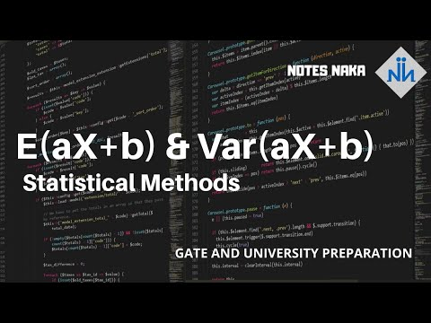 E(aX+b) | Expectation | Mean | Var(aX+b) | Variance | Statistical Analysis