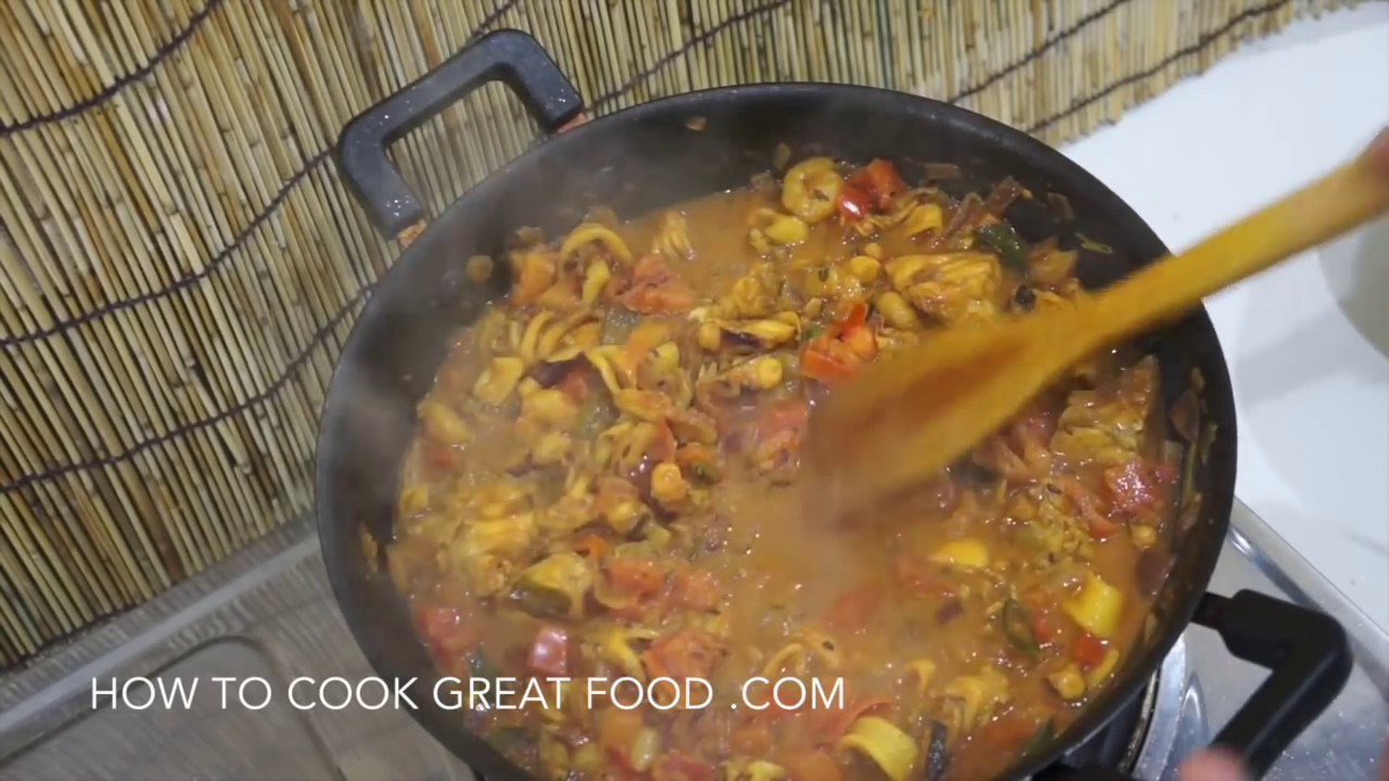 Mixed Seafood & Fish Curry Recipe Indian Masala - YouTube