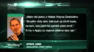 Steve Jobs   úmrtí ve zprávách PRIMA