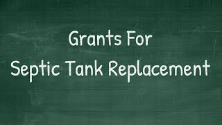 Grants For Septic Tank Replacement - grants for septic tank replacement