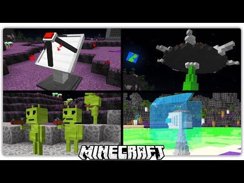 Aliens in Minecraft 1.10 | Ray Guns, Force Field Dispenser, & More! (Custom Command)