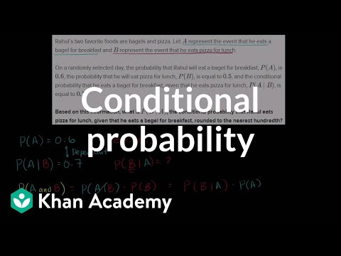 Calculating conditional probability | Probability and Statistics | Khan Academy