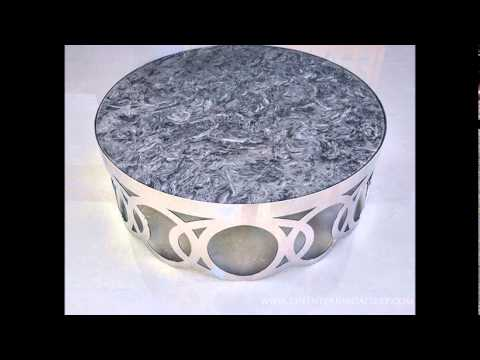 Modern Round Marble Top Coffee Table