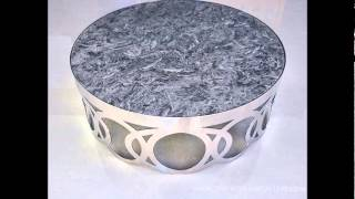 Modern Round Marble Top Coffee Table - Occia