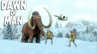 DAWN OF MAN - Ep. 02 - MAMMOTH ATTACKS Pre-Historic City Building Survival Gameplay