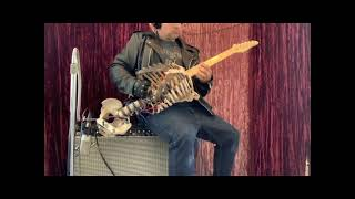 by Transylvanian Hunger Dark Throne played on an actual human skeleton