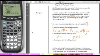 STA2023 Chapter 9 Video 6 Hypothesis Test for Means Example 1
