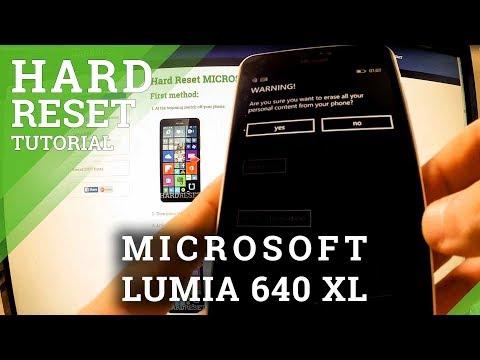 Hard Reset MICROSOFT Lumia 640 XL - HardReset info