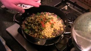 Beef Corn Spaghetti Casserole