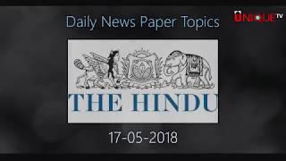 17-05-2018 Daily Current Affairs - Unique Shiksha