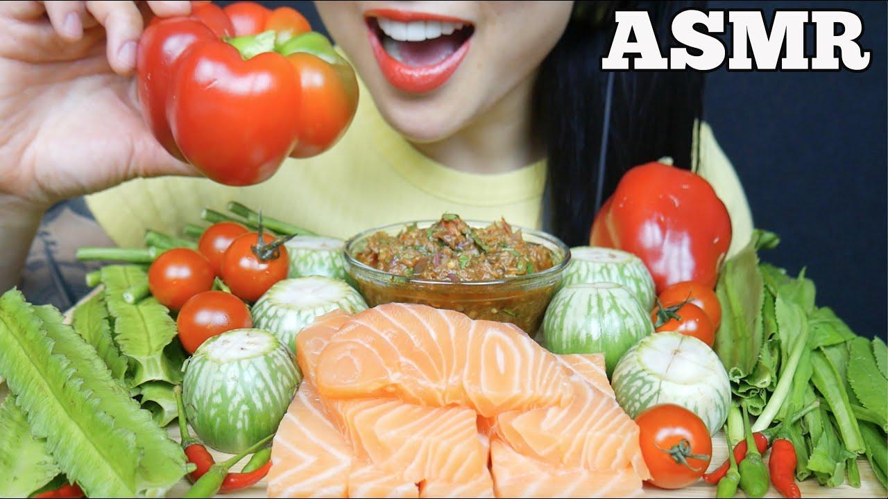 Asmr Spicy Thai Dipping Sauce Salmon Sashimi Fresh Veggies Eating Sounds No Talking Sas Asmr Youtube Asmr rotisserie chicken veggies eating sounds sas asmr. asmr spicy thai dipping sauce salmon sashimi fresh veggies eating sounds no talking sas asmr