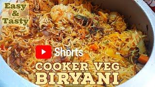 Youtube Shorts   Cooker Veg Biryani recipe   Cooker Veg Dum Biryani   The Insta Cook