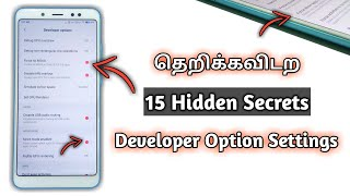 தெறிக்கவிடற Developer Options Secrets | 15 Hidden Features of Android Mobile Developer Options