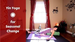 🍁 60 MIN Yin Yoga for Fall | Yin Yoga to Balance Digestion | Yoga for Grounding & Balance