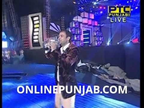 Amrinder Gill Live At PTC Punjabi Awards 2013