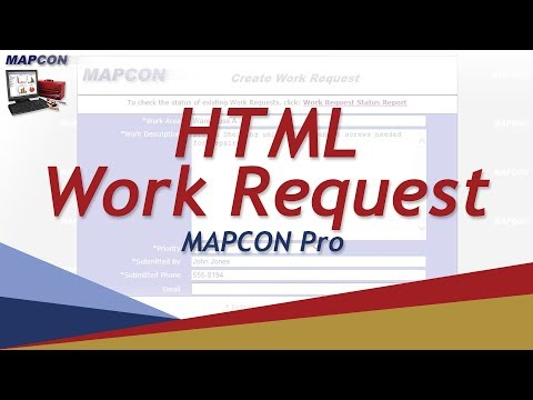 HTML Work Request  -MAPCON CMMS
