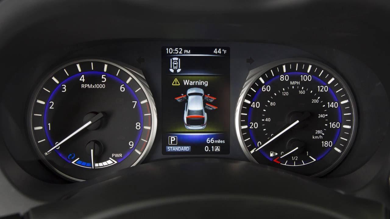 2017 Infiniti Q50 Hev Vehicle Information Display