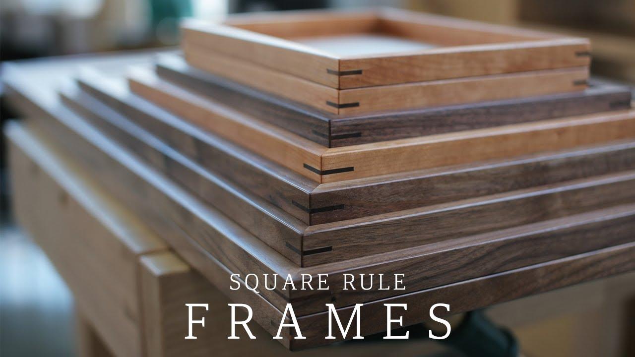 SQUARERULE FURNITURE - Making Poster Frames