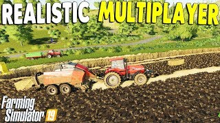 Ep. 02 - Realistic Multiplayer Farming, New Fields & New Workers | Farming Simulator 19 Gameplay
