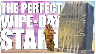Rust - Our PERFECT start to WIPE-DAY (Trio Survival) | Part 1