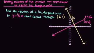 writing equations of lines parallel and perpendicular to a given line through a point