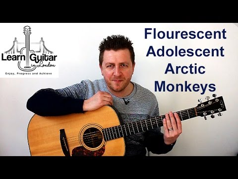 Arctic Monkeys - Guitar Lesson - Flourescent Adolescent - Intro Riff - TAB on screen