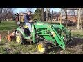 Picture Perfect! Compact Tractor Tills  Photographer's Flower Garden!
