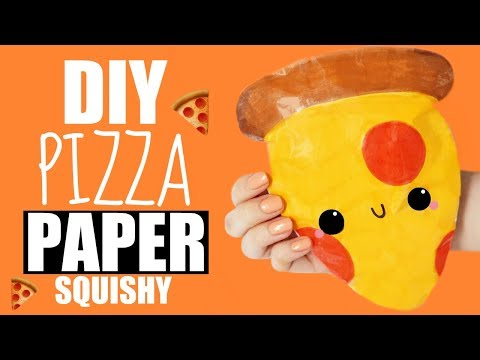 DIY PIZZA PAPER SQUISHY