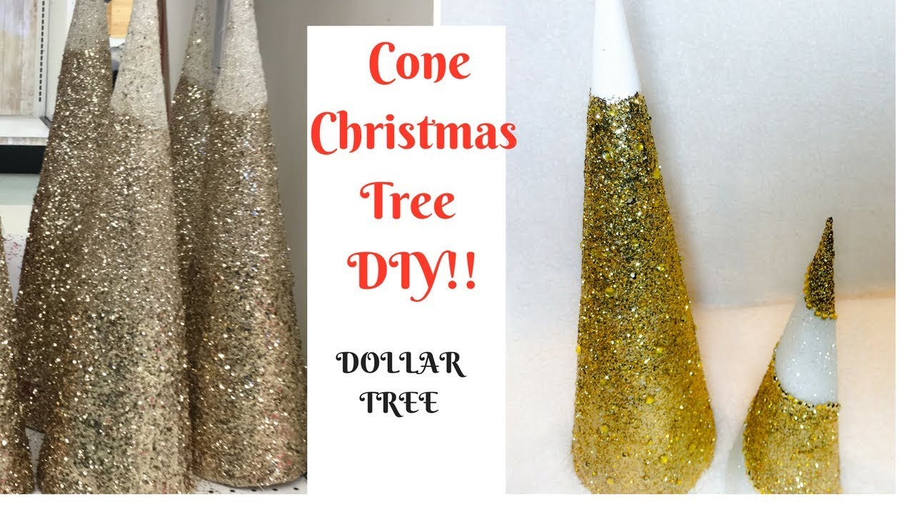 Diy Cone Christmas Trees.How To Make A Cone Christmas Tree Dollar Tree Diy