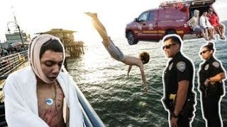 He Almost Died Pier Jumping ...