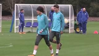 Morata trains as Chelsea prepare for Roma