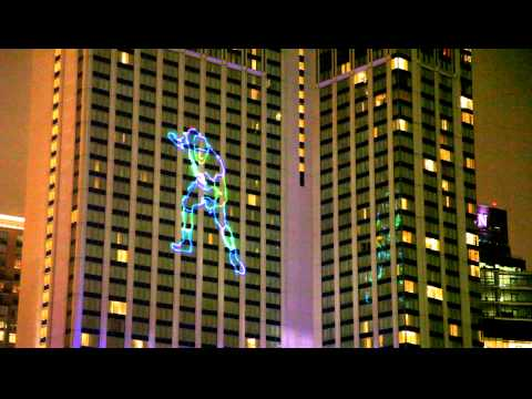 Ray Lewis Light Show At Baltimoreu0027s Marriott Waterfront In Harbor East