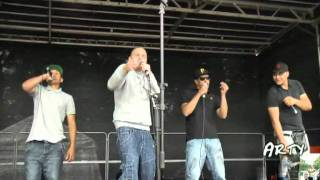 Arty Sketcha, Papes, Nate dogg,and JR performing ROUND THESE SIDES live at ward end festival