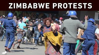 Zimbabwe's capital, Harare, was on lockdown on Friday as riot police clashed with citizens and protesters of the Movement for Democratic Change in the city's CBD.