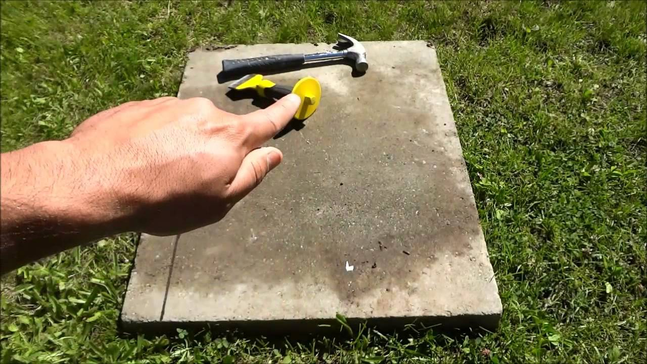 How To Cut A Stone Paver With A Chisel - How To Cut A Stone Paver With A Chisel - YouTube