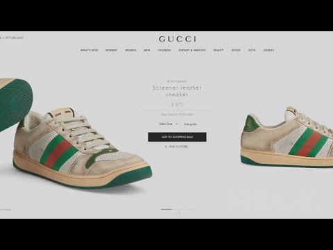 Mack in the Afternoon - Gucci is Selling Sneakers That Purposefully Look Dirty for $870 (PHOTOS)