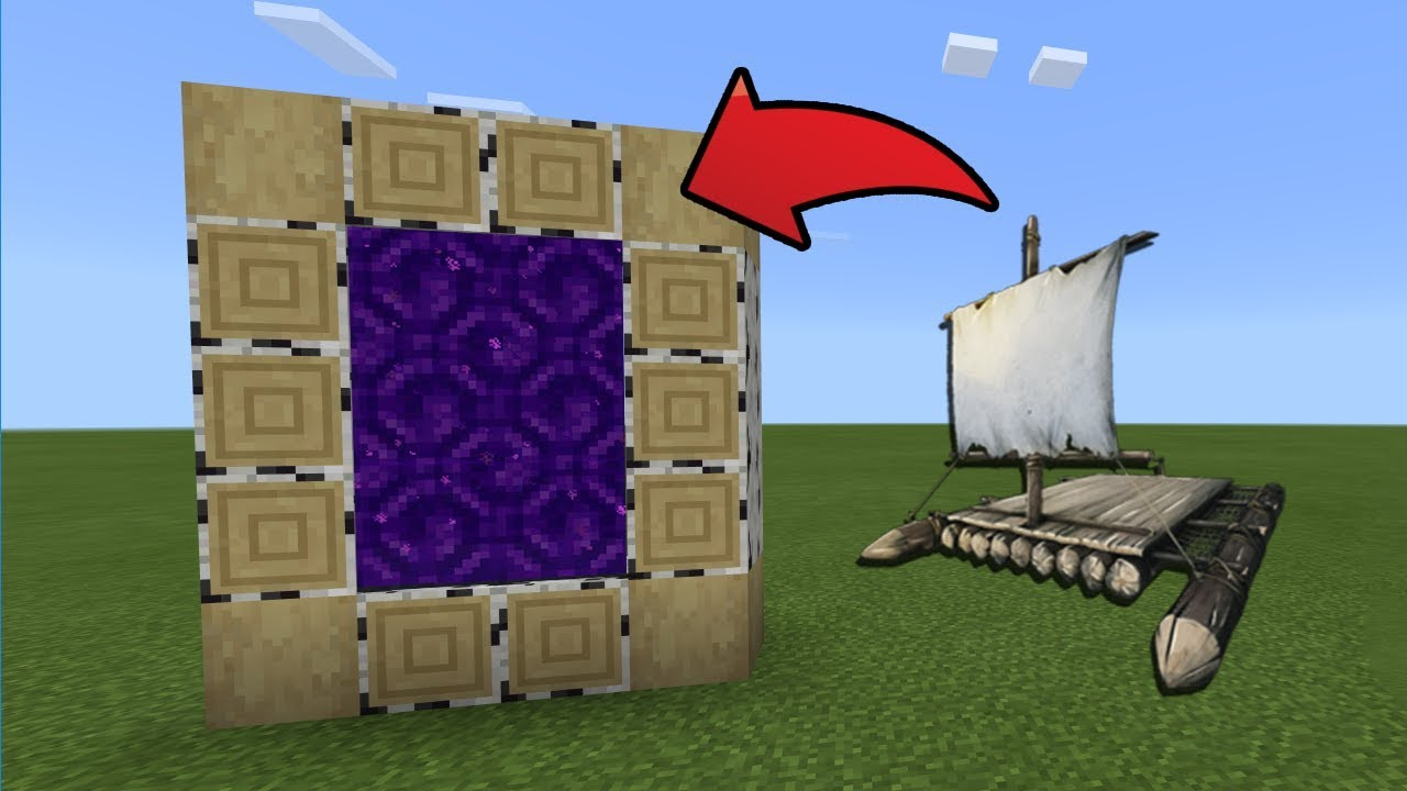 How To Make a Portal to the Raft Dimension in MCPE (Minecraft PE)