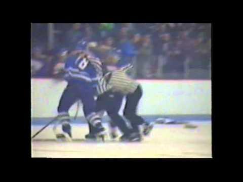 Miramchi Tim Horton Leafs fights with Tracadie Alpines