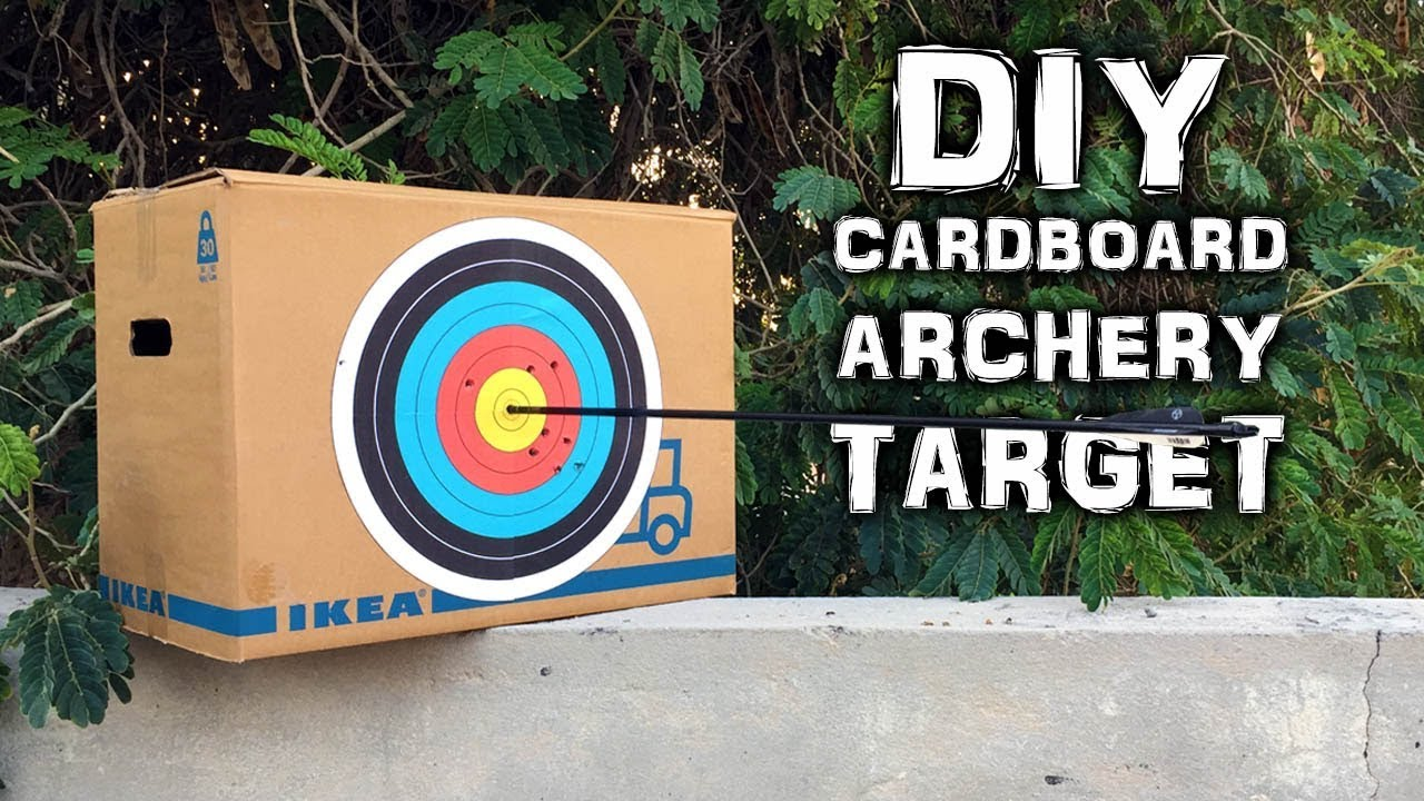 Diy Archery Target On A Budget Cardboard Version What The Hack